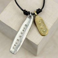 Personalised Mixed Metal Tag Necklace