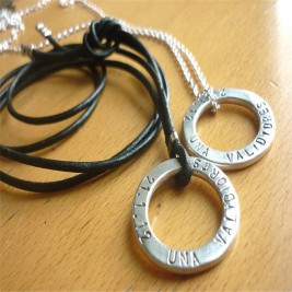 Two Personalised Wedding Necklaces