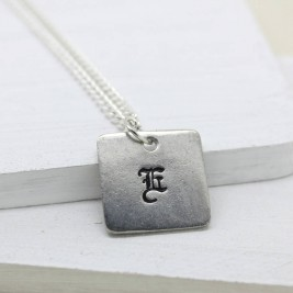 Personalised Old English Style Font Necklace