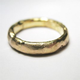 18ct Gold Organic Ring