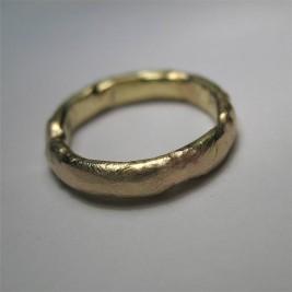 18ct Gold Organic Ring