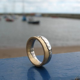 Personalised Two Tone Gold Coastline