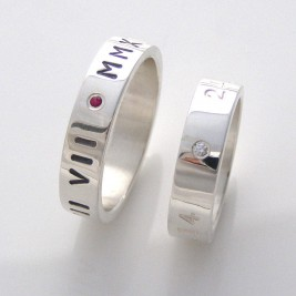 Silver Personalised Ring For Couple