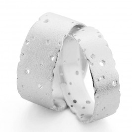 Patterned Silver Band