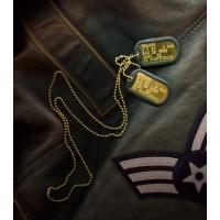 Personalised Brass Dog Tag Necklace