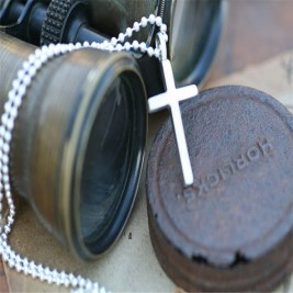 Personalised Love And Protect Cross Mens Chain