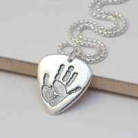 Mens Personalised Hand Or Footprint Necklace
