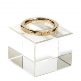 Personalised Hexagonal 18ct Gold Ring