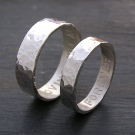 Personalised His And Hers Rings