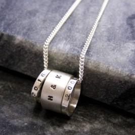 Personalised Hoop Pendant