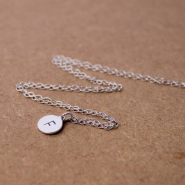 Personalised Initial Necklace Sterling Silver