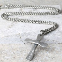 Personalised Mens Antique Cross Necklace