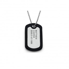Personalised Mens Identity Tag Necklace