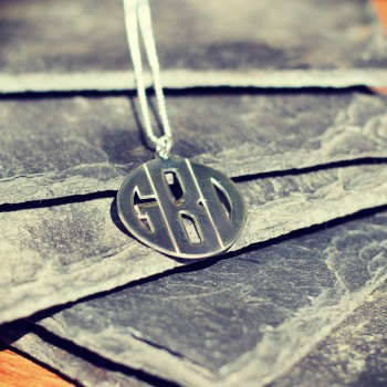 Personalised Mens Monogram Necklace