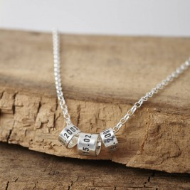 Personalised Mens Silver Storyteller Necklace