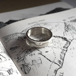 Personalised Mountain Landscape Skyline Ring