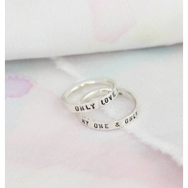 Personalised Script Ring For Couples