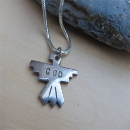 Personalised Silver Thunderbird Necklace
