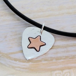 Personalised Silver And Copper Guitar Pick