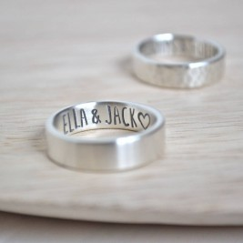 Silver Secret Message Ring