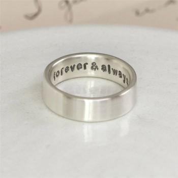 Personalised Silver Hidden Message Ring
