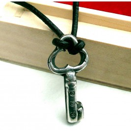 Personalised Silver Key Necklace