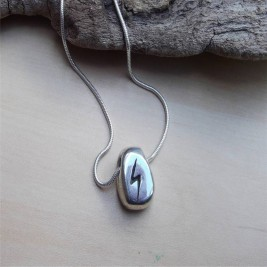 Personalised Silver Rune Neckace