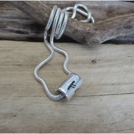 Personalised Silver Rune Thong Necklace