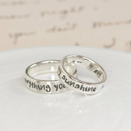 Personalised Silver Script Ring