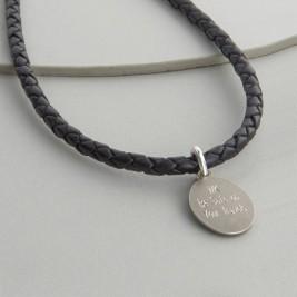 Personalised Sterling Silver St Christopher Necklet