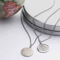 Personalised Silver St Christpher Medal Necklace