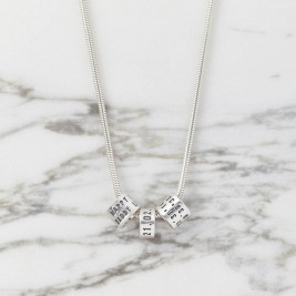 Personalised Womens Silver Storyteller Necklace