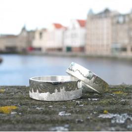 Personalised City Skyline Ring