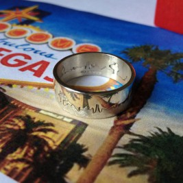 Personalised City Skyline Ring