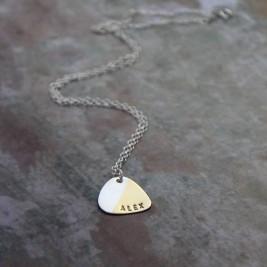 Personalised Plectrum Necklace