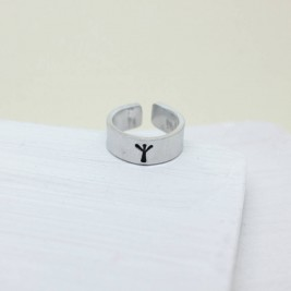 Personalised Viking Rune Initial Talisman Ring