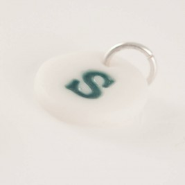 Personalised Porcelain Initial Charm