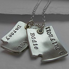 Piece Of My Heart Curved Dog Tags