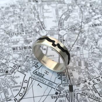 River Thames Cutout Ring