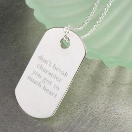 Personalised Silver Dog Tag Pendant