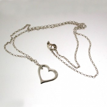 Valentines Silver Heart Necklace