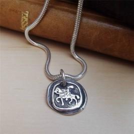 Silver Knight Pendant
