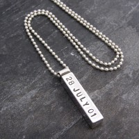 Silver Mens Chunky Personalised Pendant