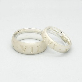 Silver Roman Numeral Ring