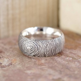 Silver Slate Ring
