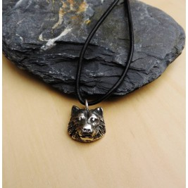 Silver Wolf Head Necklace