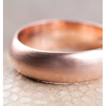 Simple Handmade Mens Wedding Ring In 18ct Gold
