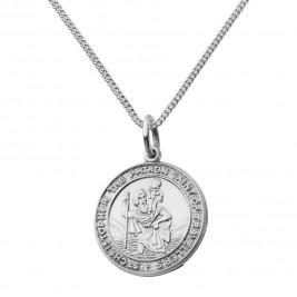 St Christopher Chunky Round Necklace