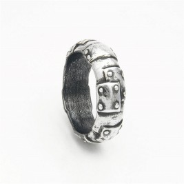 Steampunk Sterling Silver Wedding Band