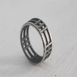 Sterling Silver Inclusions Two Ring